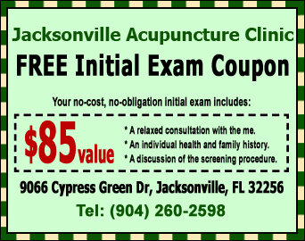 Jacksonville Acupuncture FREE Initial Exam Coupon